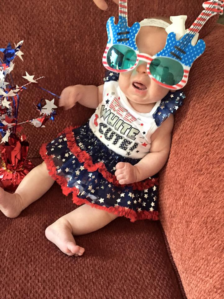 Evelyn- not a fan of 4th of July