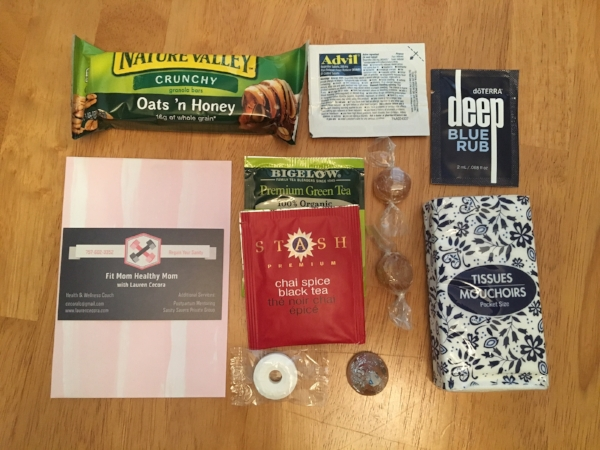 This is everything that goes into the bag (sandwich baggies)