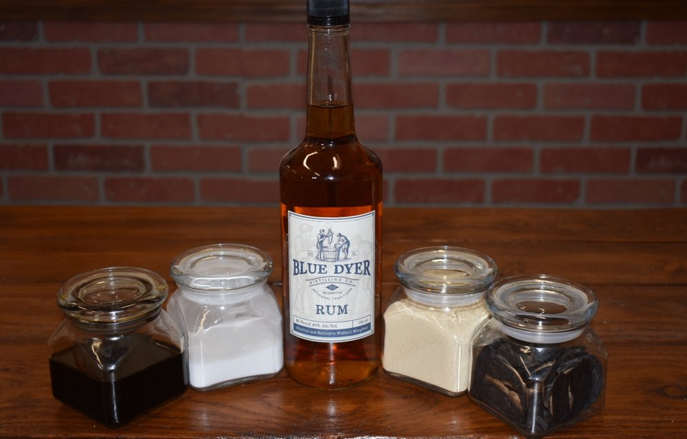 """Based on an old family recipe....BlueDyer Distilling Co. """"Original Gold"""" Rum is handcrafted from top quality Molasses, Pure Cane Sugar, Distilled four times and finished in High Char Oak Barrels. Awarded ADI Annual Judging of Craft Spirits Silver Medal in 2017, our flagship product is best enjoyed neat,on ice or in your favorite Rum based cocktail, and responsibly. Cheers!!"""