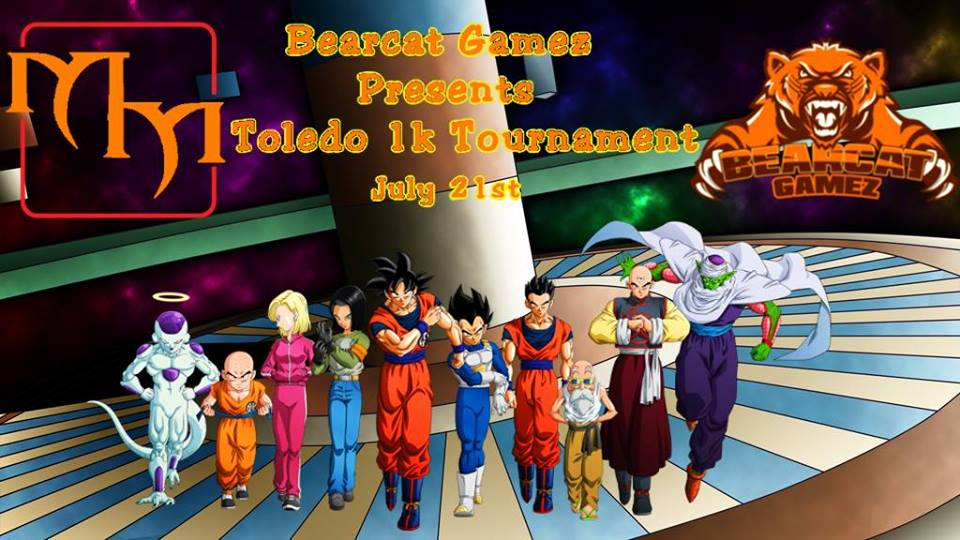 Make sure you come down to Side events will be ran by these sponsors after the halftime lunch break, we will be having win-a-boxes, drafts, Dragonball fighterz events and win-a-mats all day. So even if you drop, you can still win!  Make sure you preregister while the price is still low because at door the price hikes up $10.  For any questions you can message myself or email bearcatgamez@gmail.com