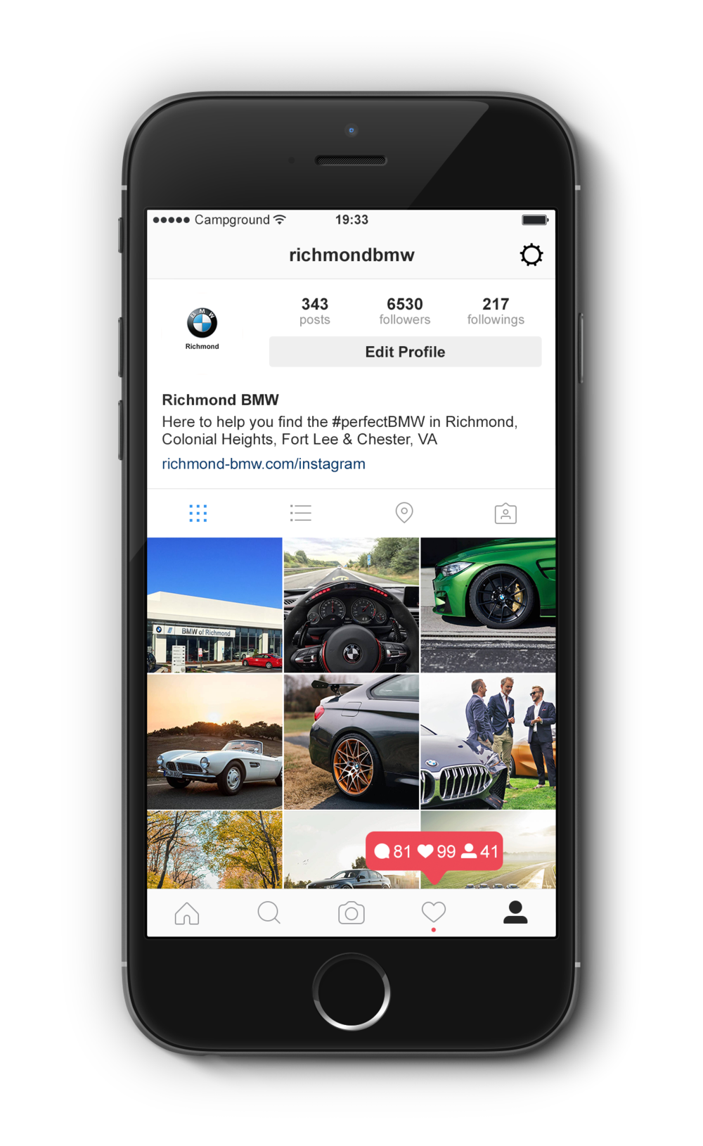 Campground + Asbury - Effortlessly scale your Instagram feed to reach and interact with the right audience. Our technology connects you to real local customers.Our technology platform combined with the expertise of our team delivers a newfound social media presence across ALL of the Asbury Automotive Group's marques.Campground Automotive's powerful growth technology allows for automotive groups like Asbury to scale up all of their brands simultaneously, from BMW to Nissan to Acura, we can help your marketing teams (internal or agency) reach new customers as well as engage and retain existing ones.