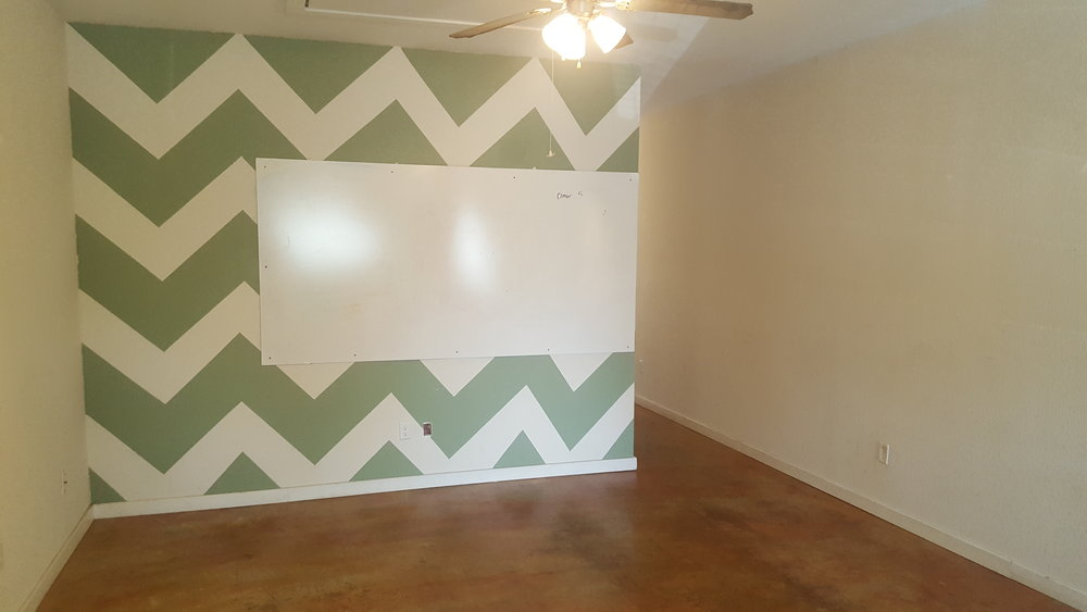 *Walls have been repainted*
