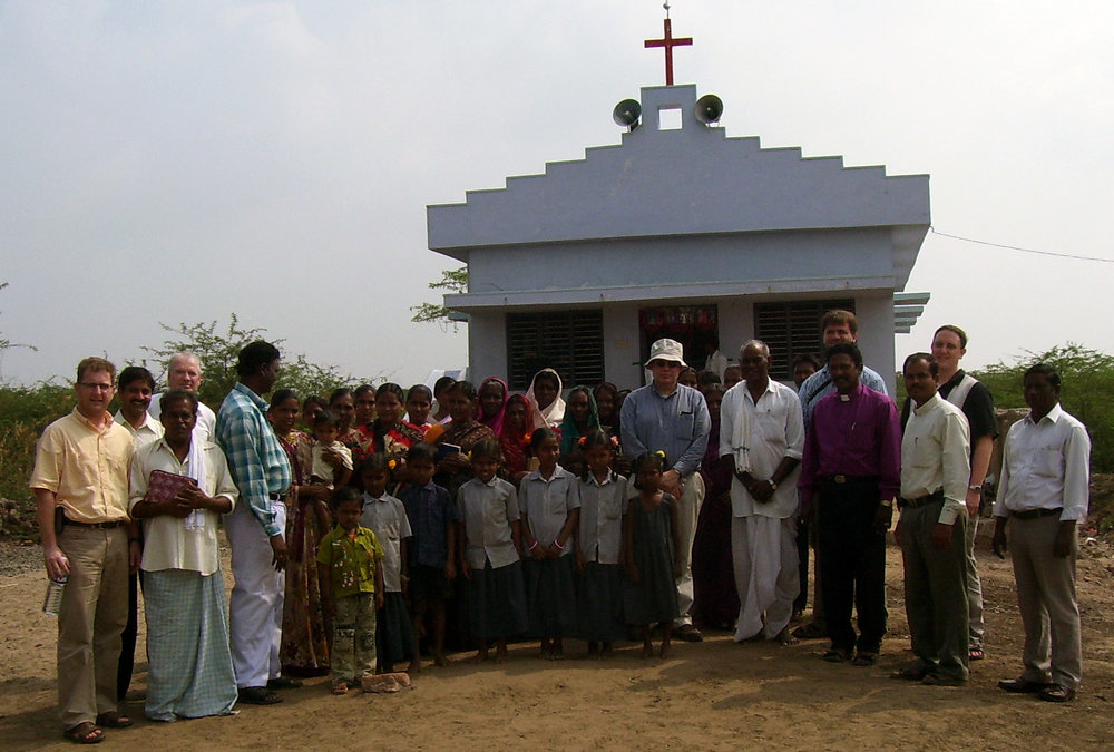 The dedication of the church in Nachugunta, India