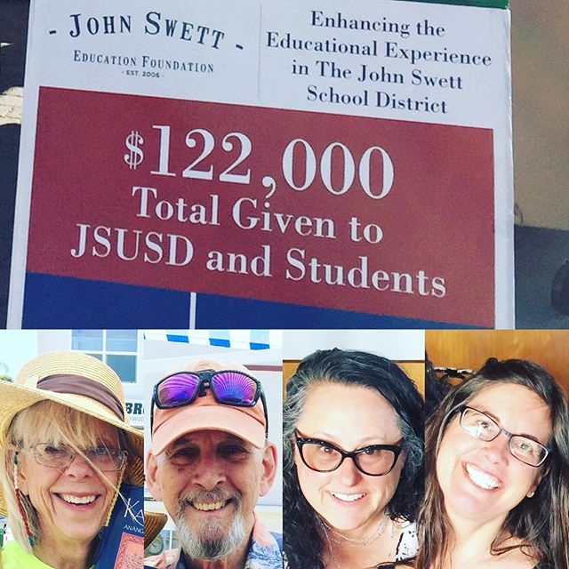 Just a few of our awesome volunteers at the JSEF! Billie, Paul, Cindy and Julie! We sold a ton of books this weekend at the BIG BIG BIG book sale in Crockett and made $204.50! Now at $0.25/book that's well over 800 books that were sold. Like I said a TON of books. Special thanks to the amazing volunteers that help us out 💖 #crockettca #funraising #libraries #publiceducation #donation #booksales