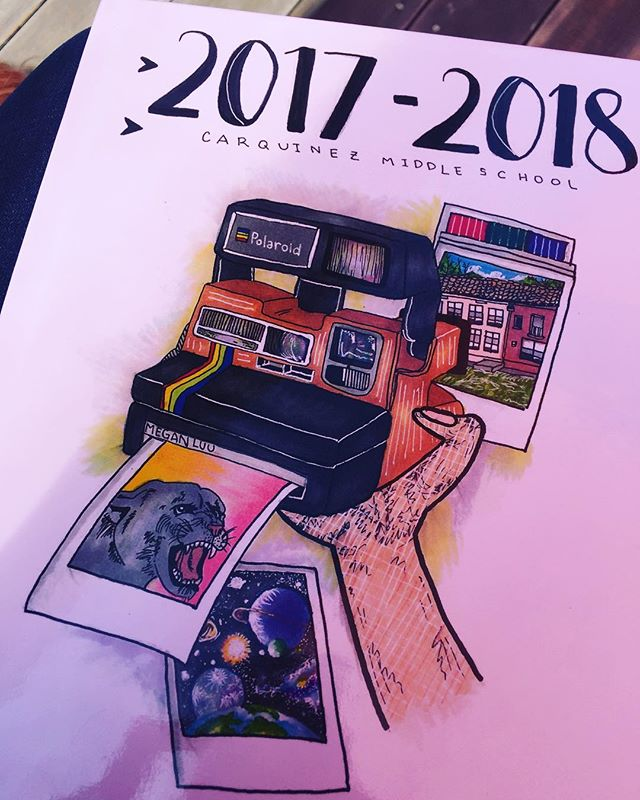 The Carquinez Middle School Yearbook is out! #jsusd #johnswettunifedschooldistrict #crockettca #carquinezmiddleschool #yearbook