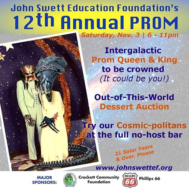 Set Phasers on Party! Our 12th Annual Prom is coming and it's going to be a night to write about in your Captain's Log.  Tickets in link in bio. Hurry, last year they sold out!  #danceparty #silentauction #fundraiser #education #crockettca #herculescalifornia #martinezca #portcosta