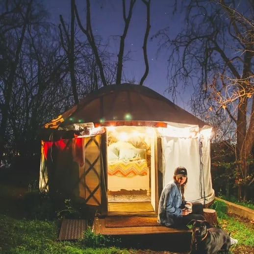 Mare Island Yurt Getaway!  A night on the nature preserve and a bottle of @vinogodfather Olde Vine Zinfandel  #silentauction #mareisland #yurtlife #hipcamp #bayareacamping #education