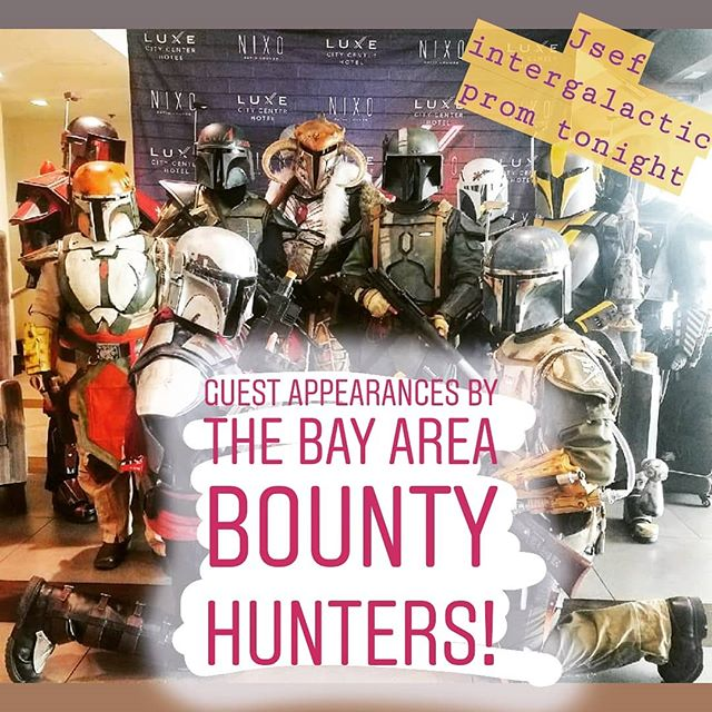 @bay_area_bountyhunters will be there - Will You? The party of the millennium is TONIGHT!  get your tickets or start auction bids thru the link in our bio 👆👽💃🍸 #jsef #danceparty #education #fundraiser #silentauction #dinner #adultprom #cosplay #crockettca #rodeoca #beniciaca #martinezca #portcosta #intergalactic