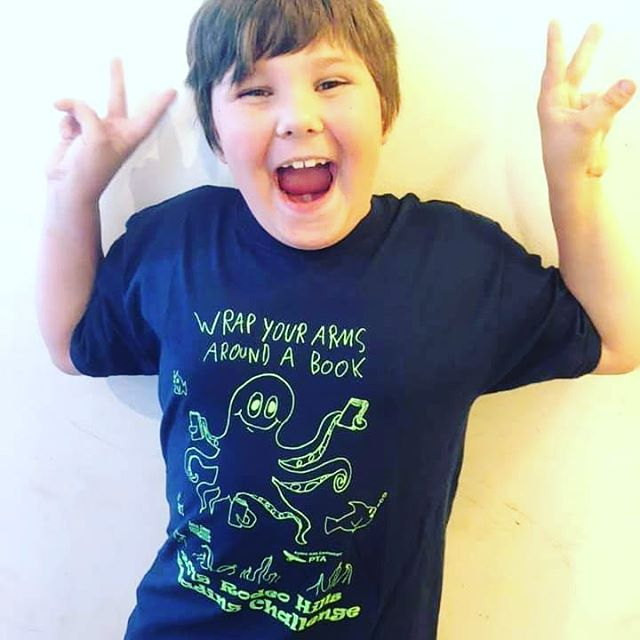We love our district students and we're proud to support the annual Reading Challenge at @rodeohills Elementary by providing these awesome t-shirts to kids who meet the challenge!  #jsef #rodeohills #lovetoread #bookworms #education #supportourschools