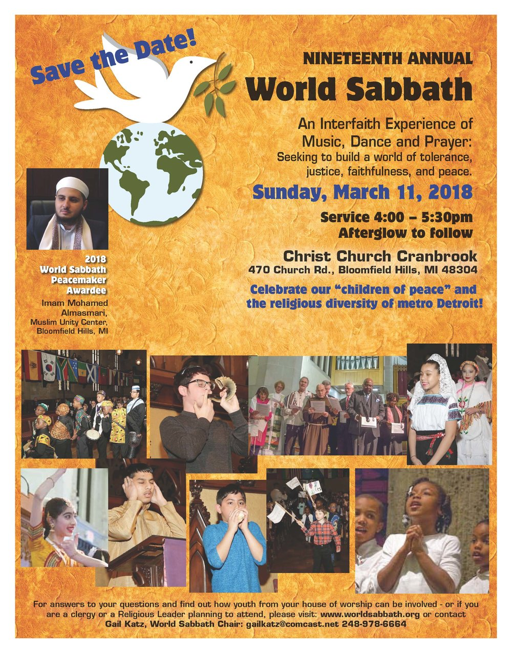Save the Date World Sabbath 2018