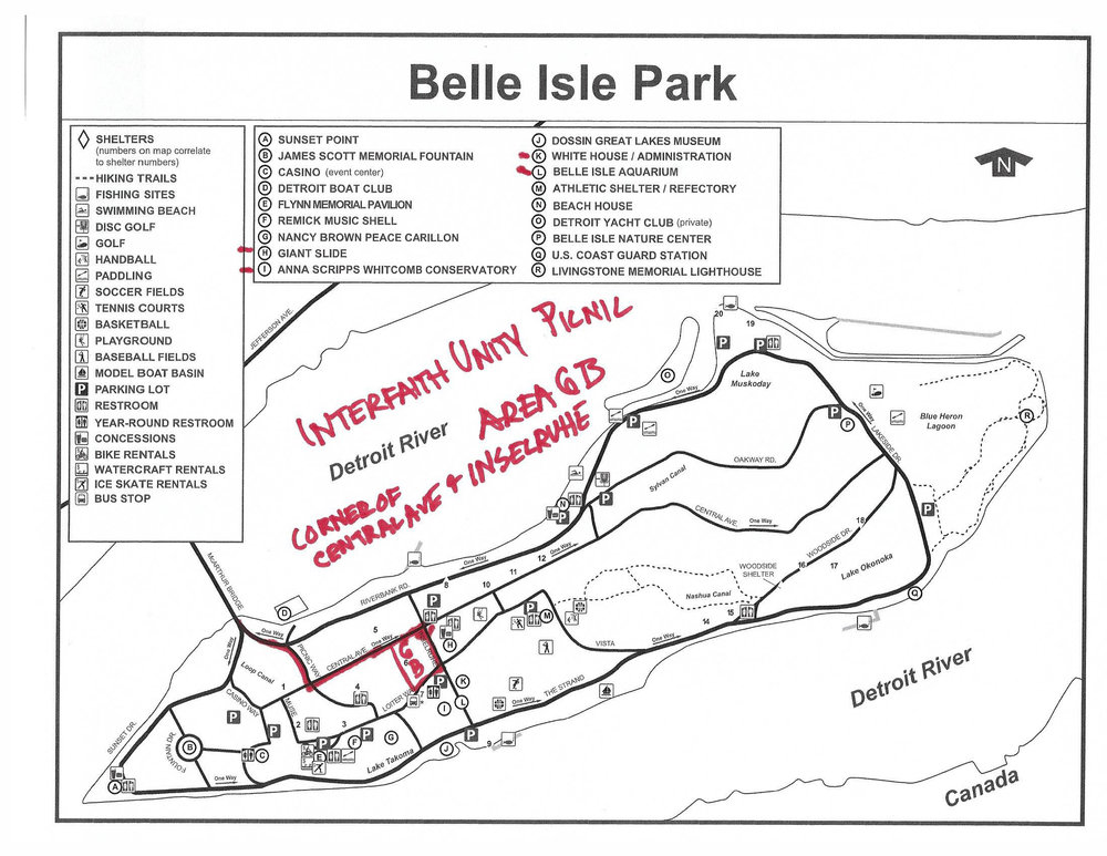 Map to Picnic Site