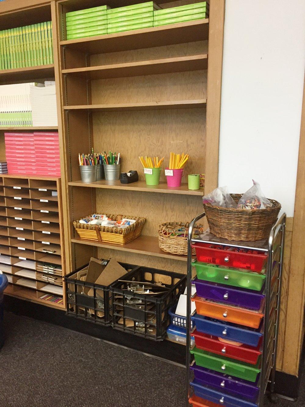 Copy of 2nd Grade Supply Shelf-After