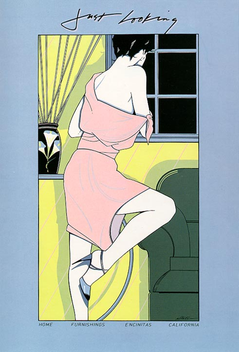 Patrick Nagel, Just Looking  8 Color Serigraph, 1978