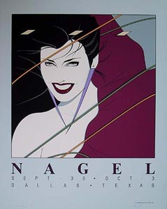 Patrick Nagel, Texas  12 Color Serigraph, 1983