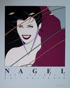 Patrick Nagel, Texas 12 Color Serigraph, 1983
