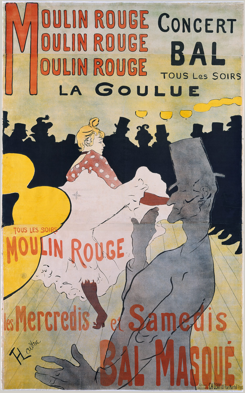 """""""Moulin Rouge: La Goulue"""" by Toulouse Lautrec 1891"""