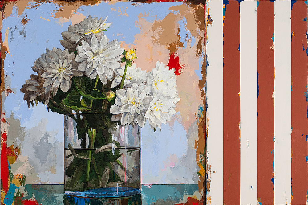 David Palmer, Flowers 11 with Rust Stripes
