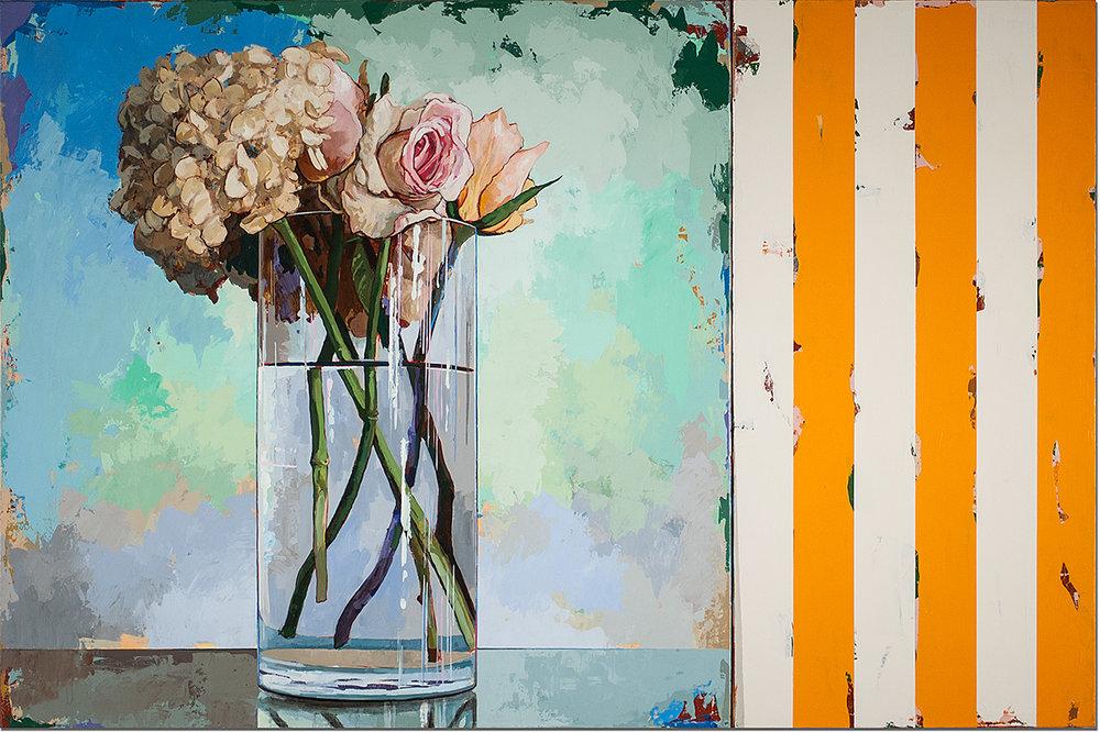 David Palmer, Flowers 18 with Orange Stripes