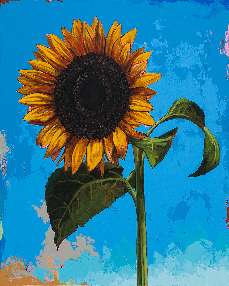"Sunflowers #2 by David Palmer - Original Painting on Canvas 24""x30"" - $2,400"