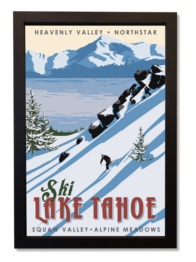 Ski Lake Tahoe framed.jpg