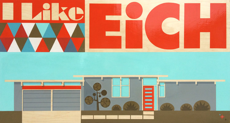 """I Like Eich"" - 36""x60"" - Original Acrylic on Board by Aaron Eskridge"