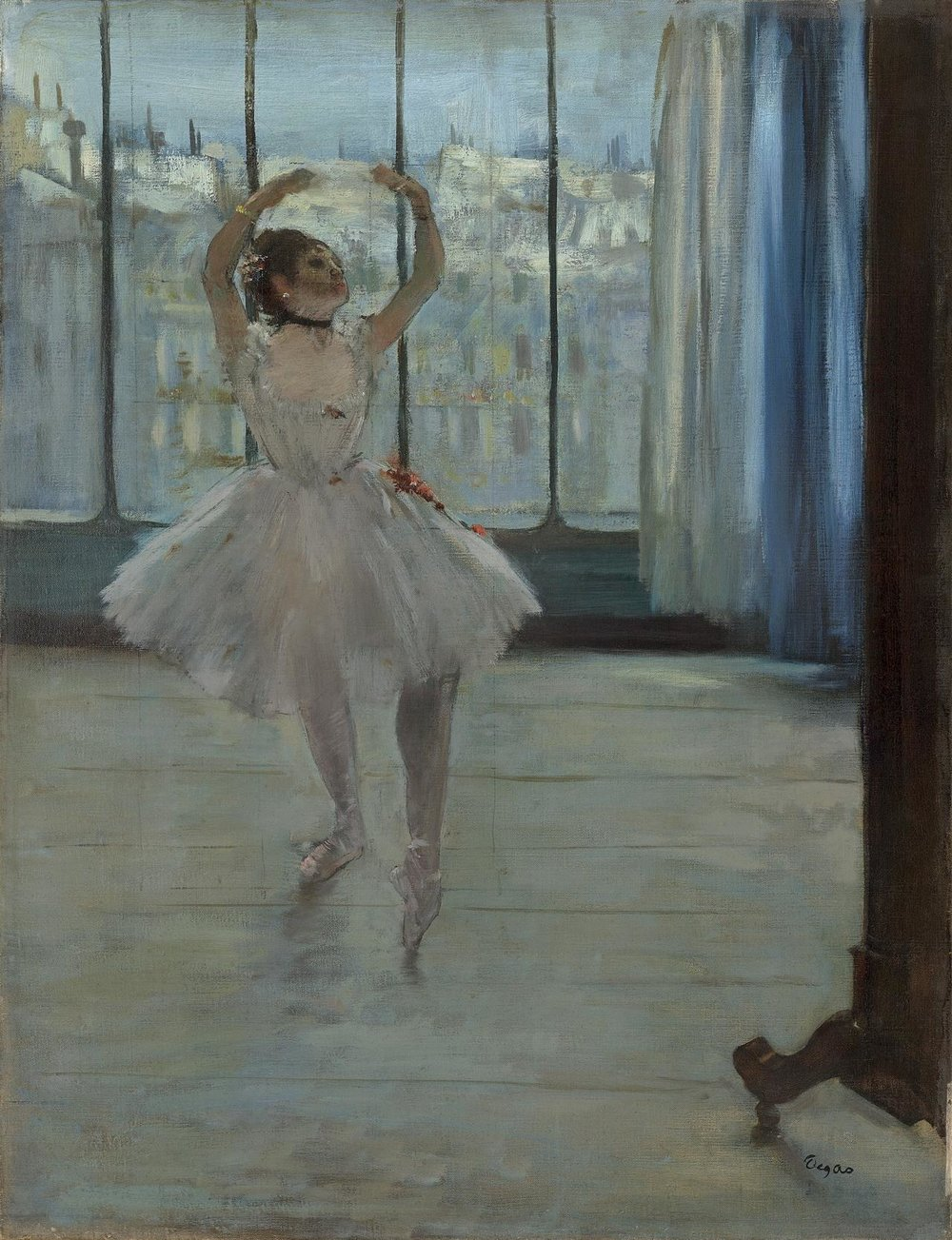 """Dancer in Front of a Window"""