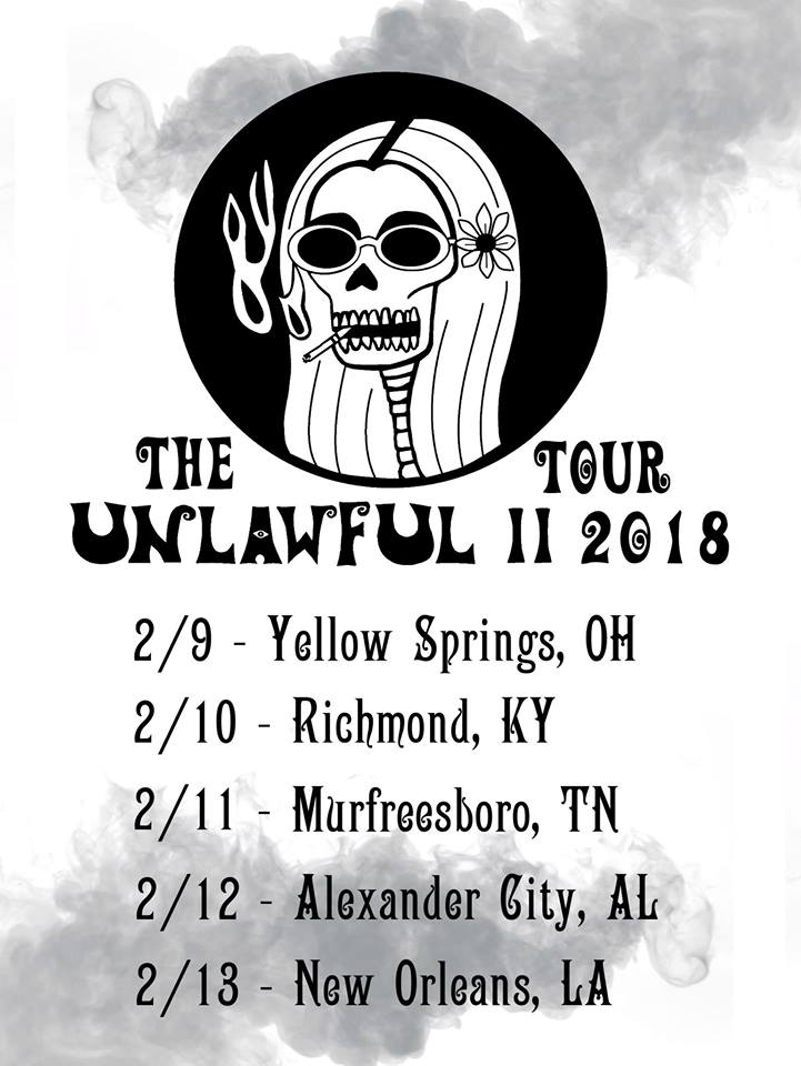 February Shows - Unlawful are heading out on a short run of shows next month at some small, intimate venues.