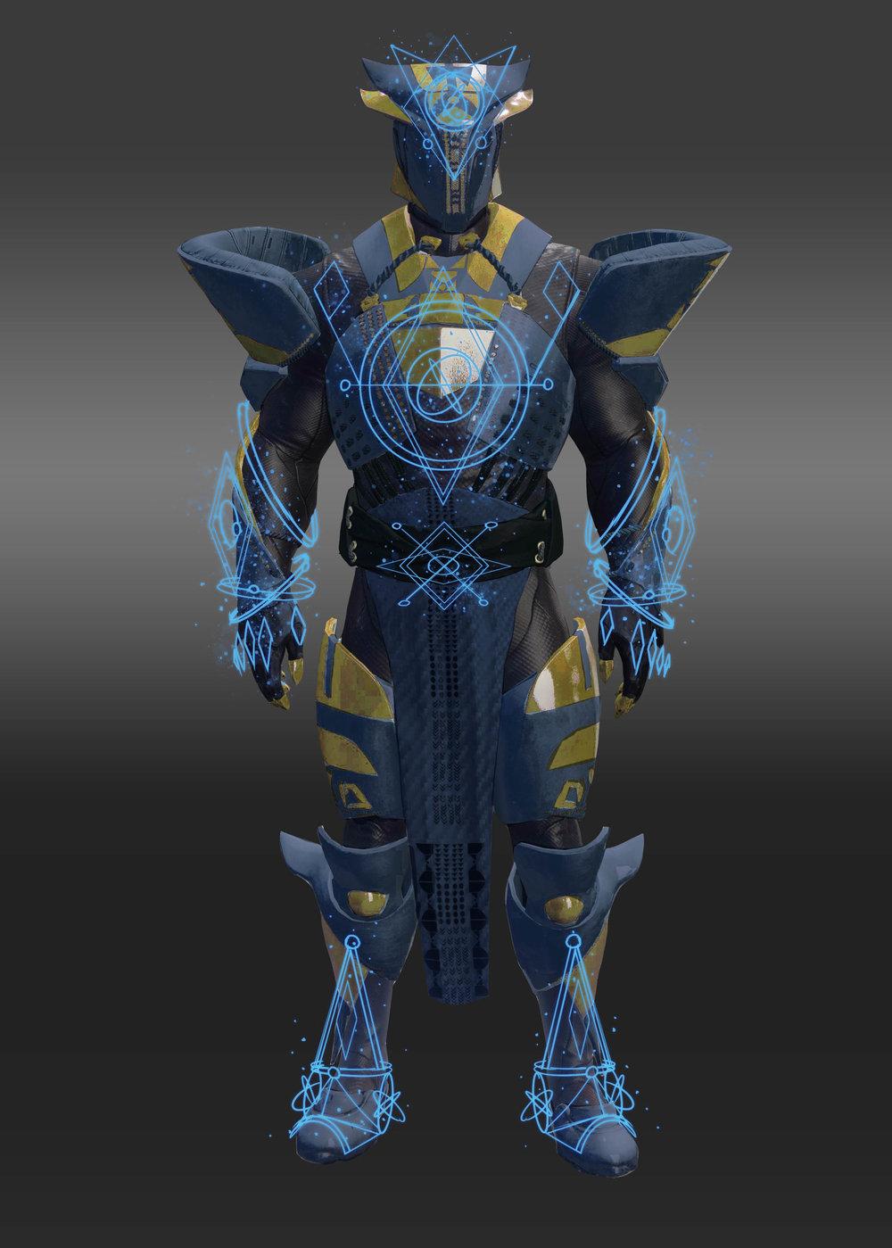 Titan Raid ornaments/color palette
