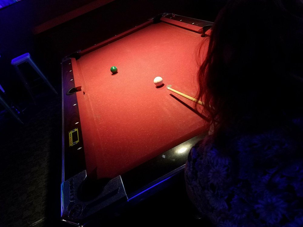 Yes. We have pool tables!