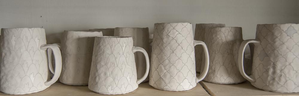 mugs in progress