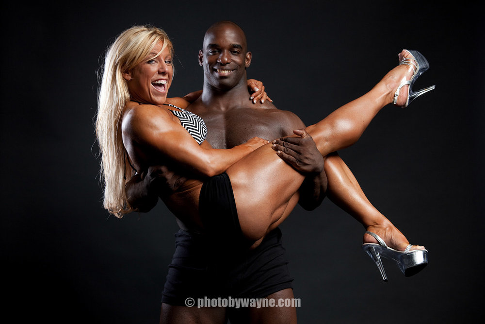 fun fitness photo shoot in studio