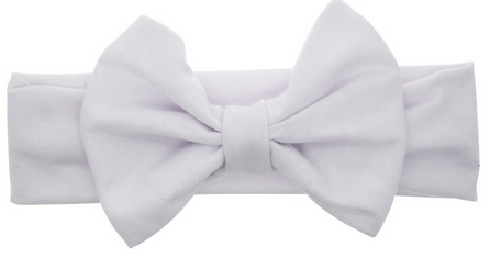 White Baby Girls Elastic Bow Headband — Baby and Mumma f617f9f0fa5