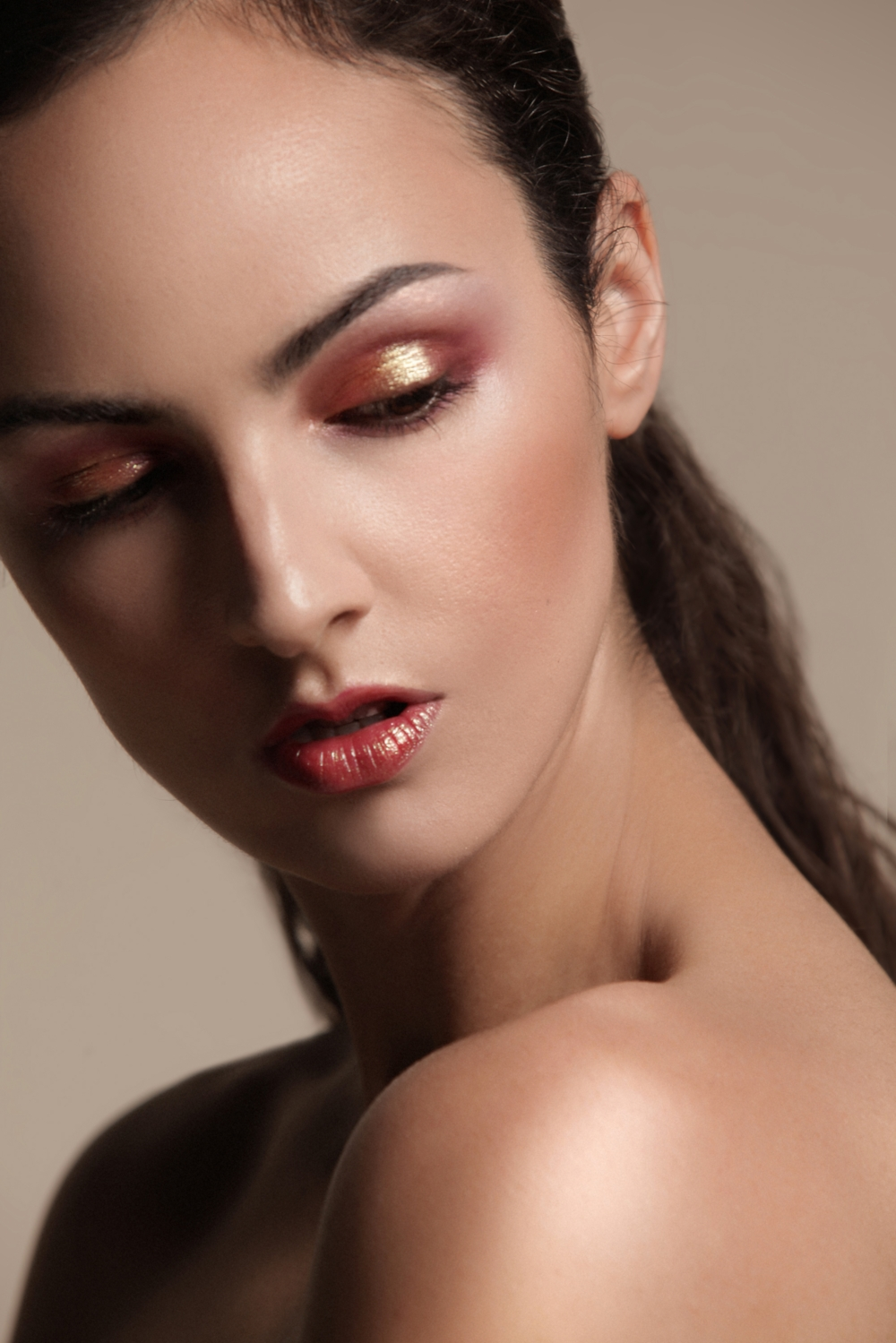Blush Used is Glossier Cloud Paints in the color Haze  Makeup By Perryn Morris Photo by Roy Cox  Modeled by Megan G.