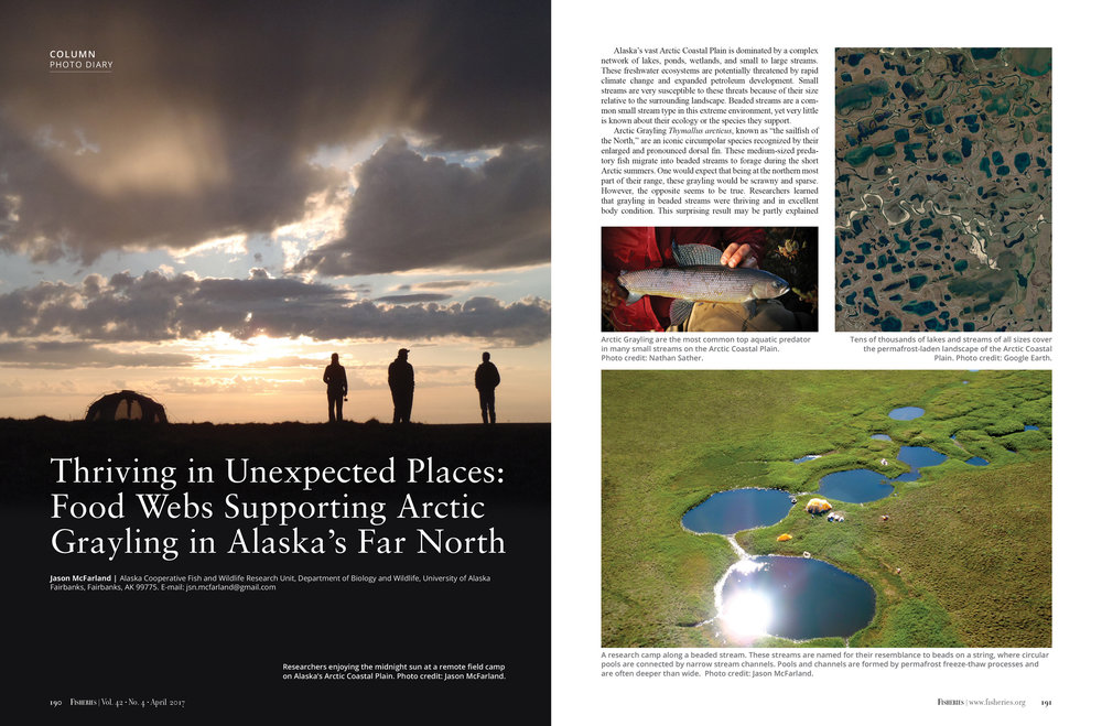 Fisheries Magazine, Interior pages with photo gallery (American Fisheries Society)