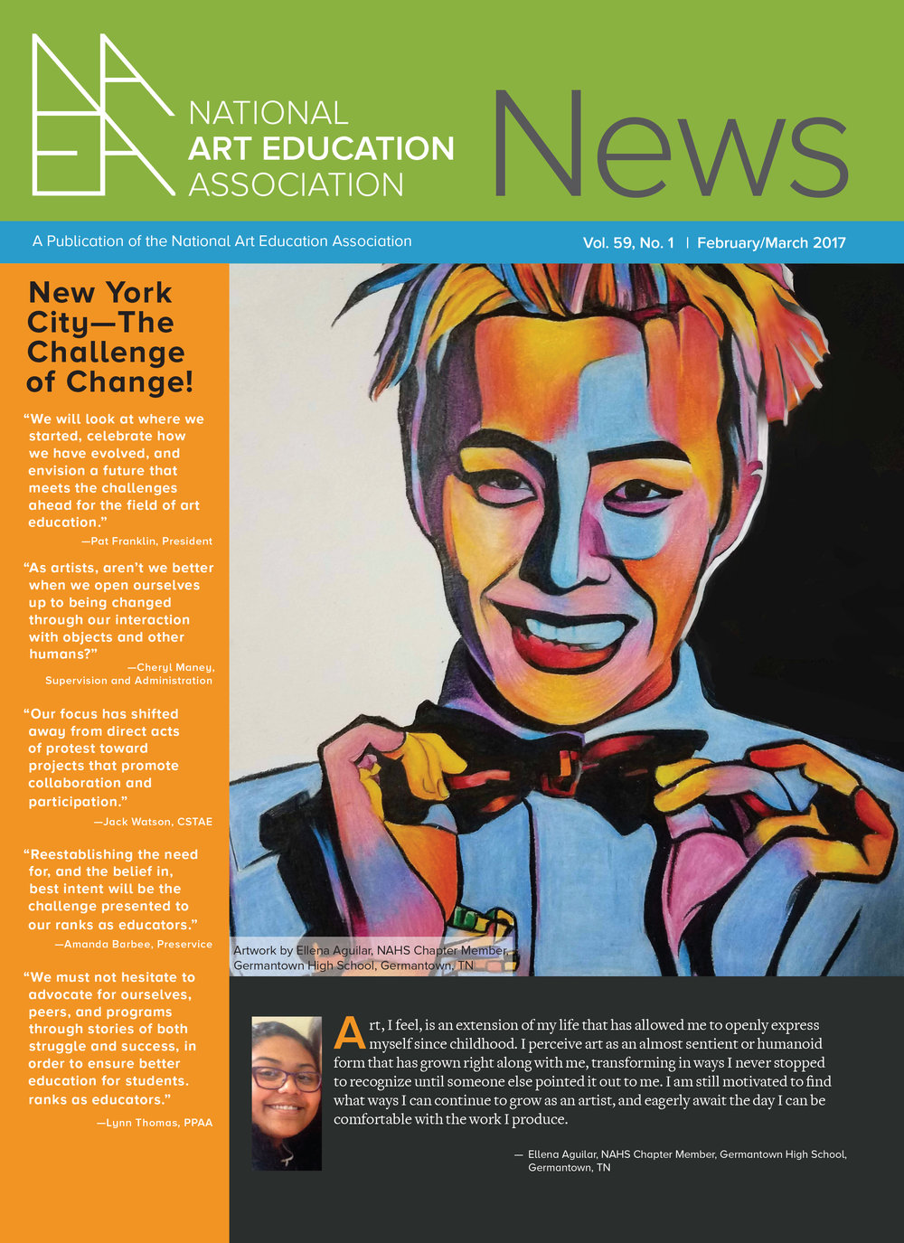 NAEA News, Cover (National Art Education Association)