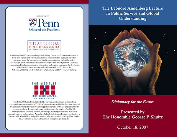 Event program, Annenberg Public Policy Center, University of Pennsylvania