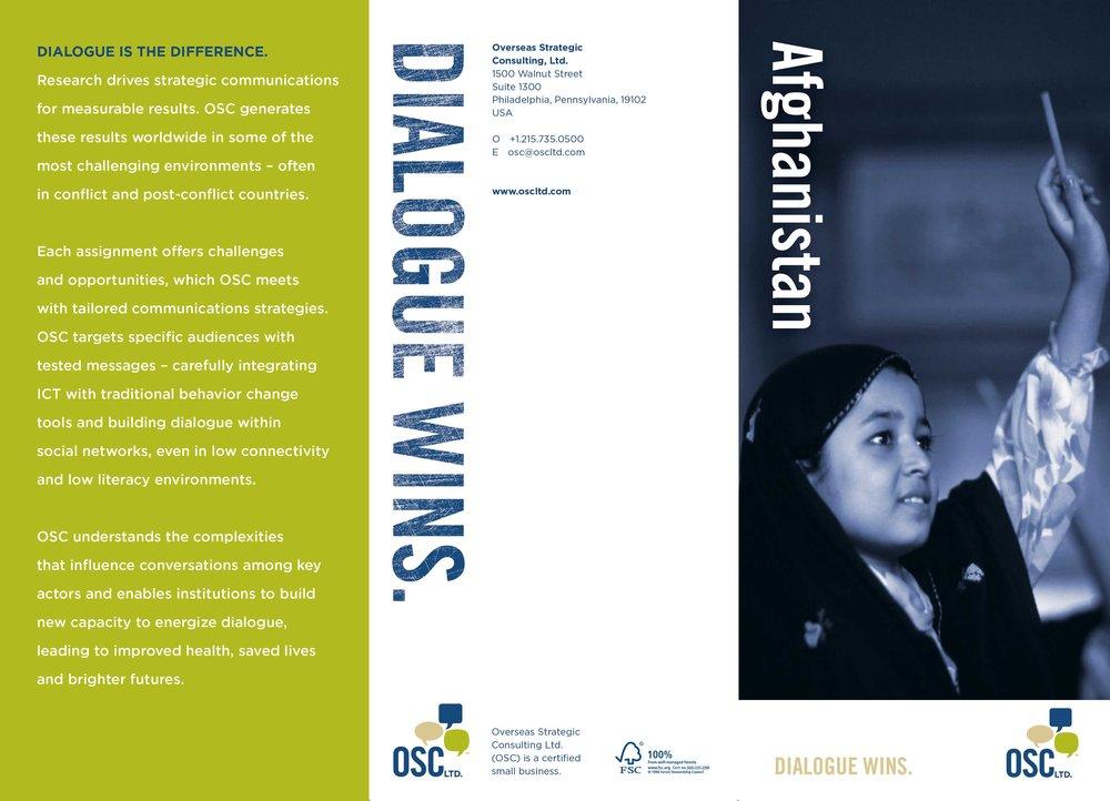 Trifold brochure, OSC