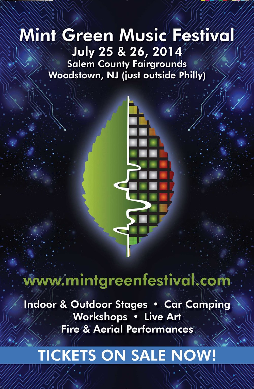 Poster/Postcard, Mint Green Music Festival