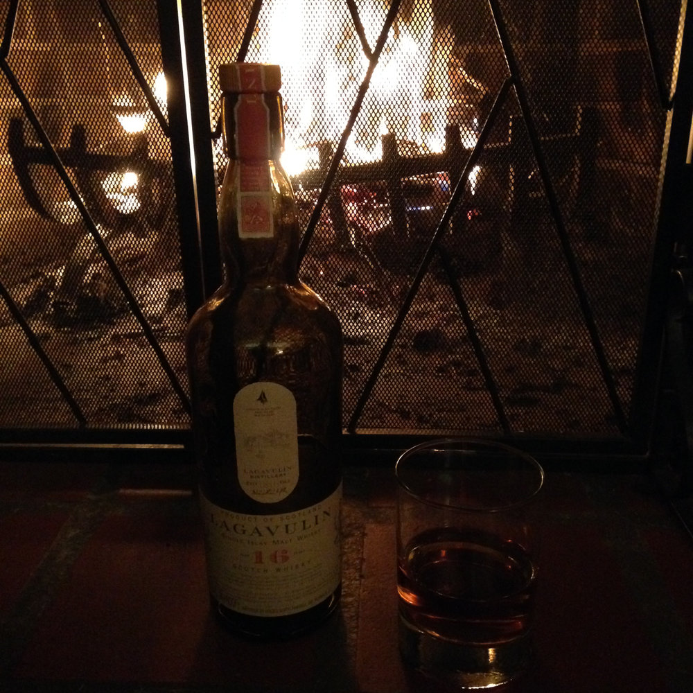 Nice scotch & fire & music!