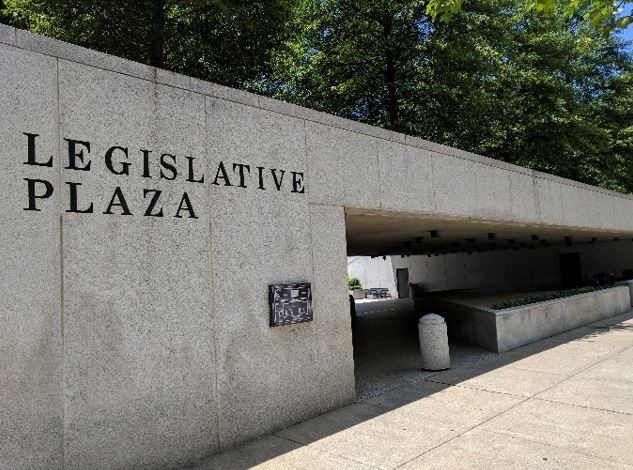 Entrance to Legislative Plaza