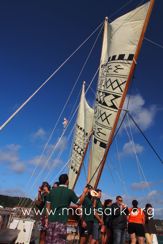 Haunui under sail, Waitangi 2015
