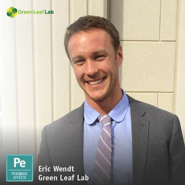 Eric Wendt, Chief Science Officer of Green Leaf Lab in Portland, Oregon