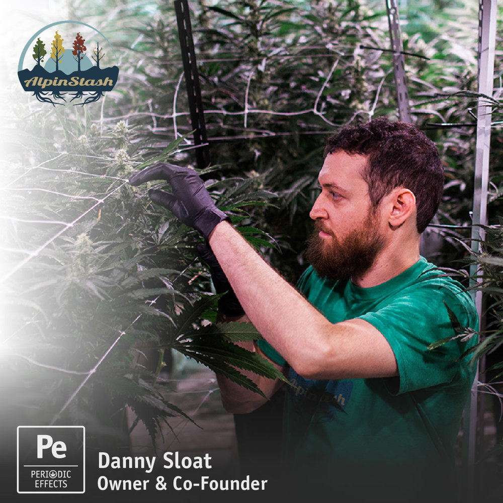Danny Sloat, Owner and Co-Founder of AlpinStash, a cannabis producer in the Colorado rec market