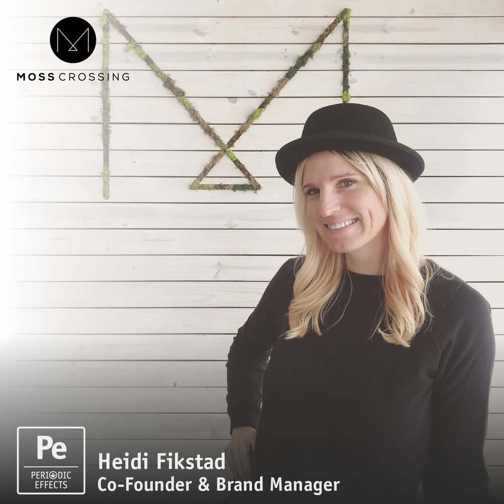 Heidi Fikstand, Co-Founder and Brand Manager for Moss Crossing, a Cannabis Retailer Dispensary in Eugene, Oregon