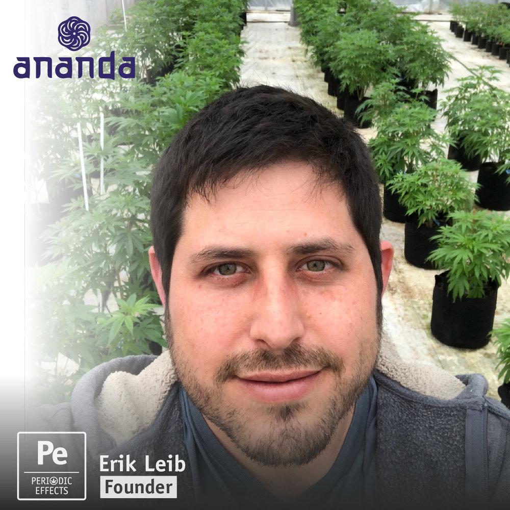 Erik Leib, Founder of Ananda Farms, a craft cannabis producer in Oregon