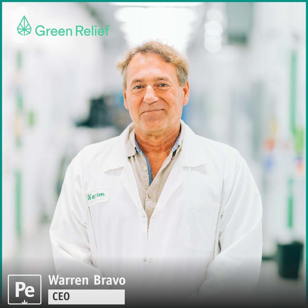 Warren Bravo, CEO of Green Relief, a Licensed Producer of Cannabis in Canada