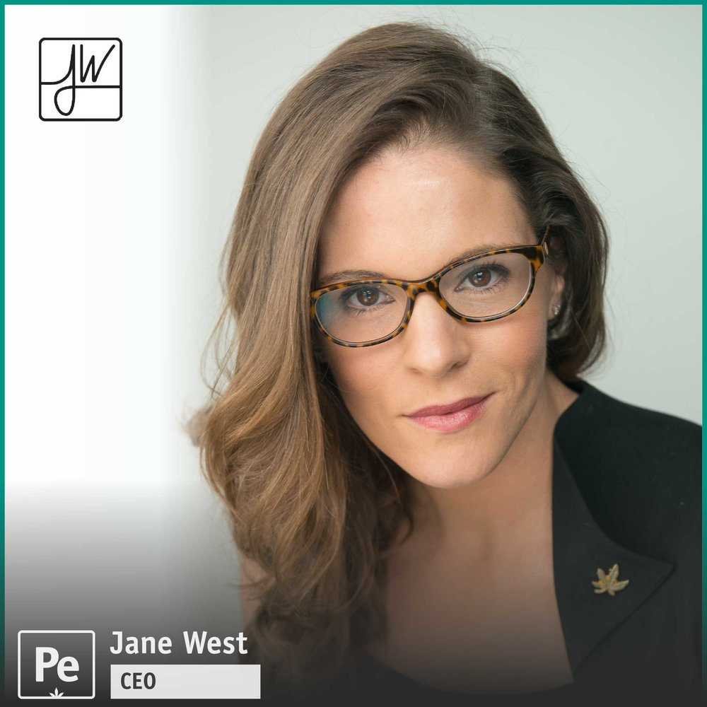 Jane West, Founder of Women Grow and CEO of Jane West Lifestyle glass wear line and CBD coffee and capsules product lines