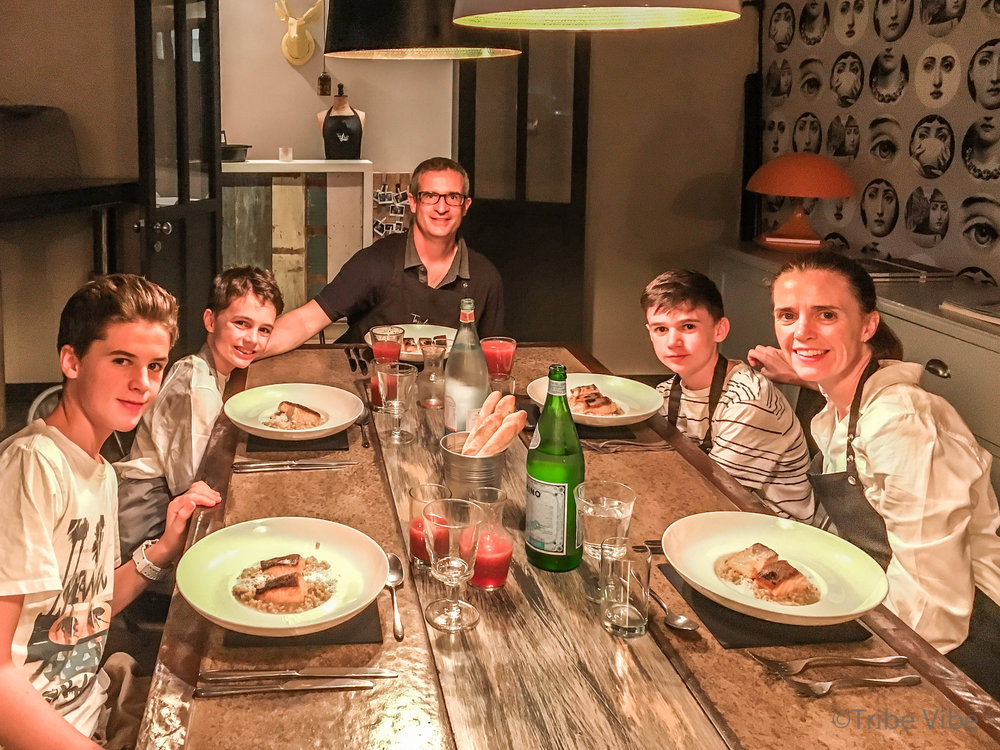 Dubai family cooking class at Top Chef.