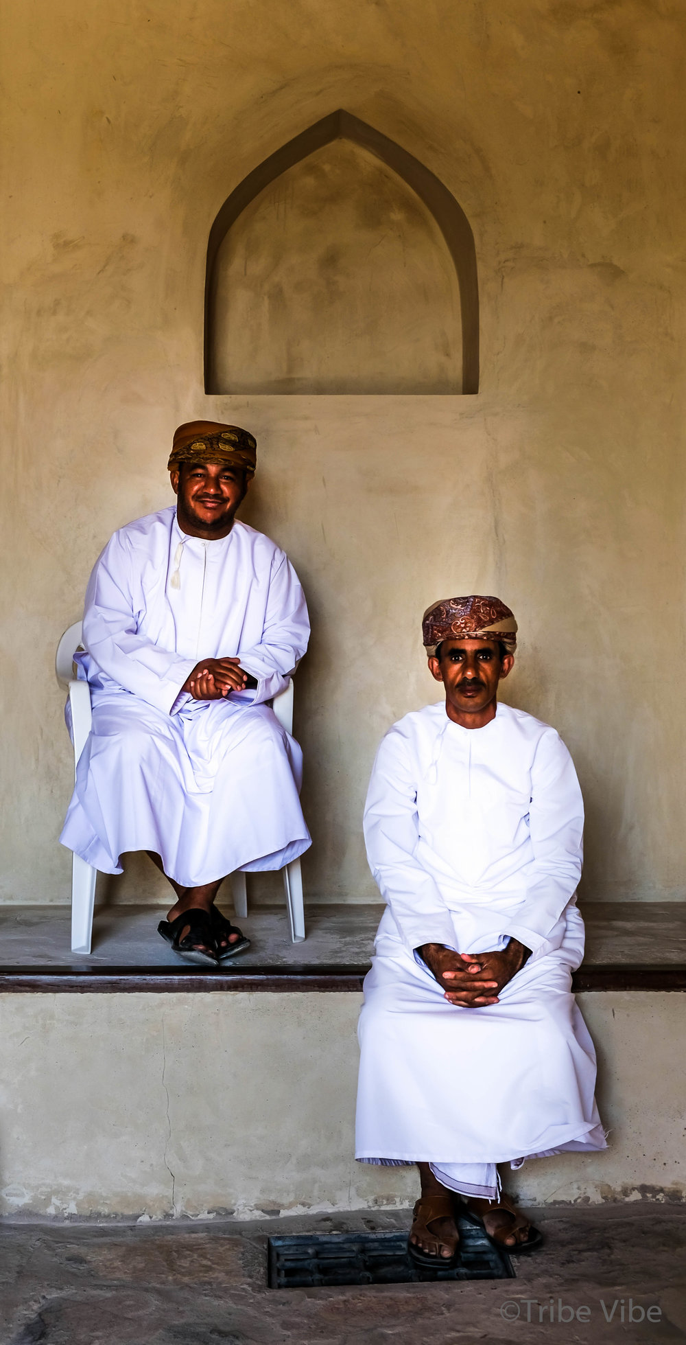 Omani men at Bahla Fort, Oman