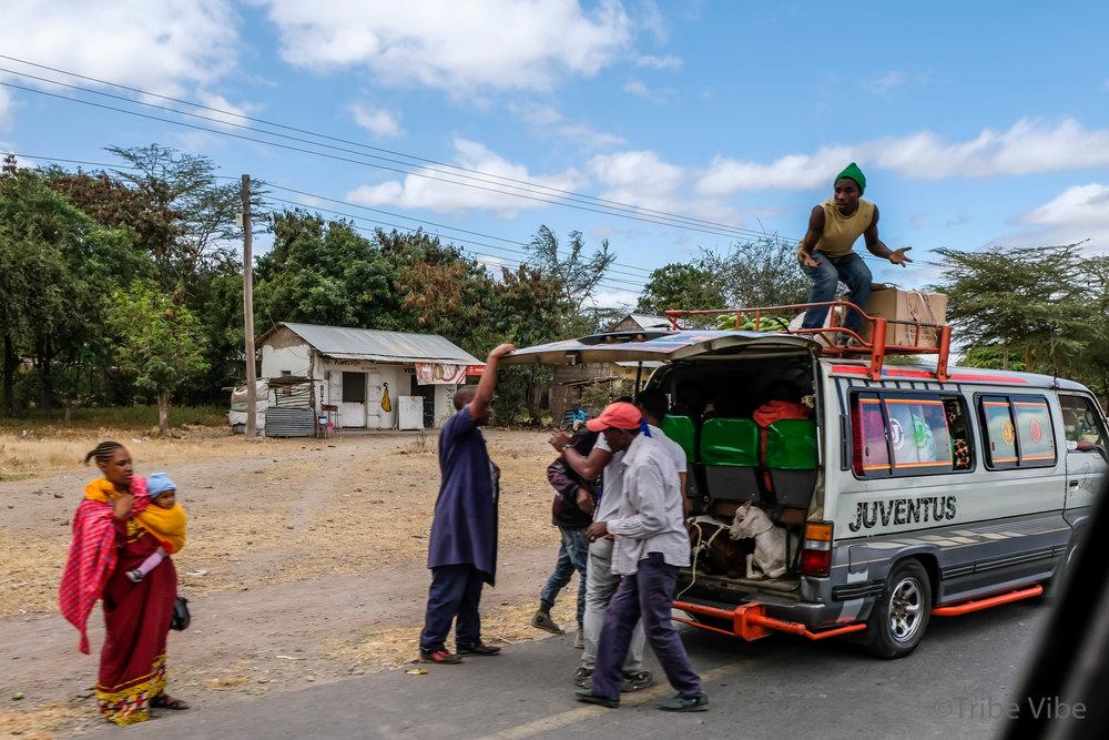 Driving through Karatu, Tanzania
